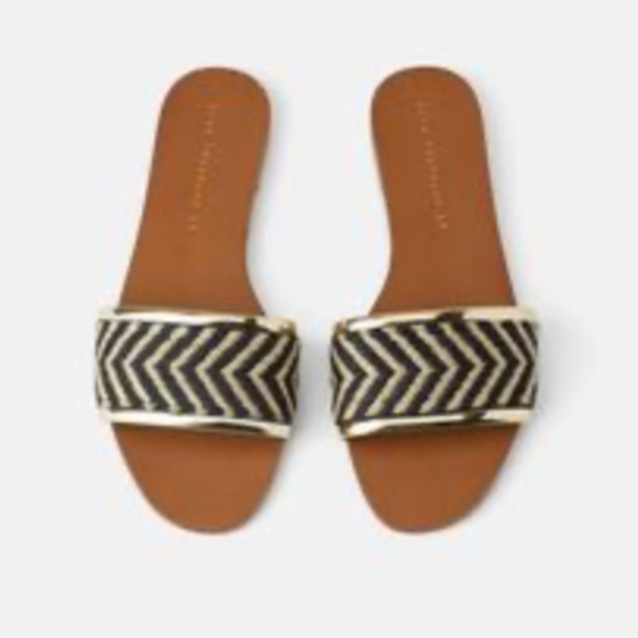 ❣️Zara Chevron Slide Sandals❣️